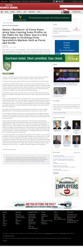 Dmitri Chavkerov   Speculator Attitude -Boston Business Journal- Greed Factor