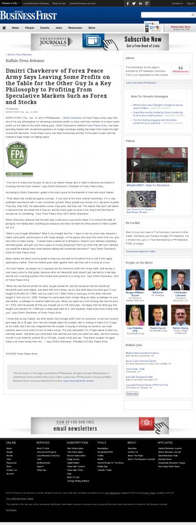 Dmitri Chavkerov | Speculator Attitude -Business First of Buffalo- Greed Factor