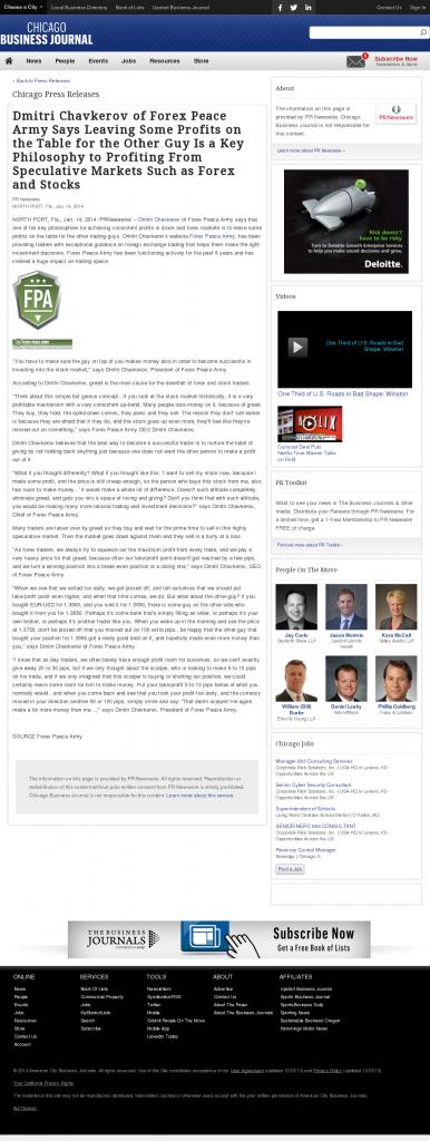 Dmitri Chavkerov | Speculator Attitude -Chicago Business News- Greed Factor