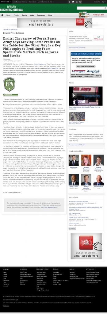 Dmitri Chavkerov | Speculator Attitude -Denver Business Journal- Greed Factor