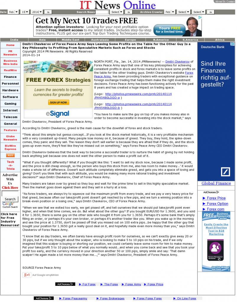 Dmitri Chavkerov | Speculator Attitude -IT News Online- Greed Factor