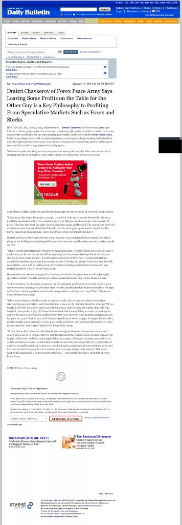 Dmitri Chavkerov | Speculator Attitude -Inland Valley Daily Bulletin (Ontario, CA)- Greed Factor
