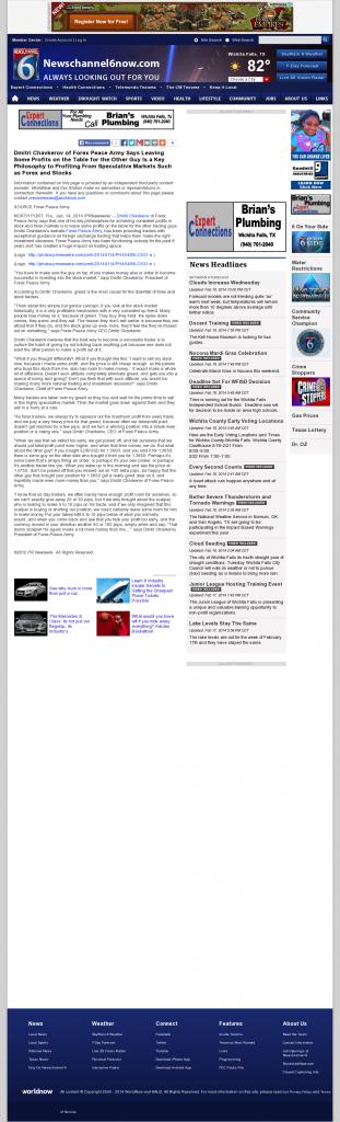 Dmitri Chavkerov   Speculator Attitude -KAUZ-TV CBS-6 (Wichita Falls, TX)- Greed Factor