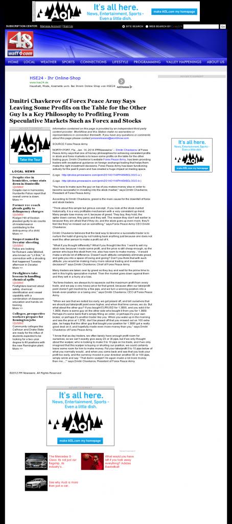 Dmitri Chavkerov | Speculator Attitude -WAFF NBC-48 (Huntsville, AL)- Greed Factor