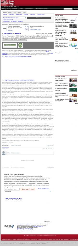 Forex Peace Army | Benefits of Plasma-Market Intelligence Center- Forex Trading