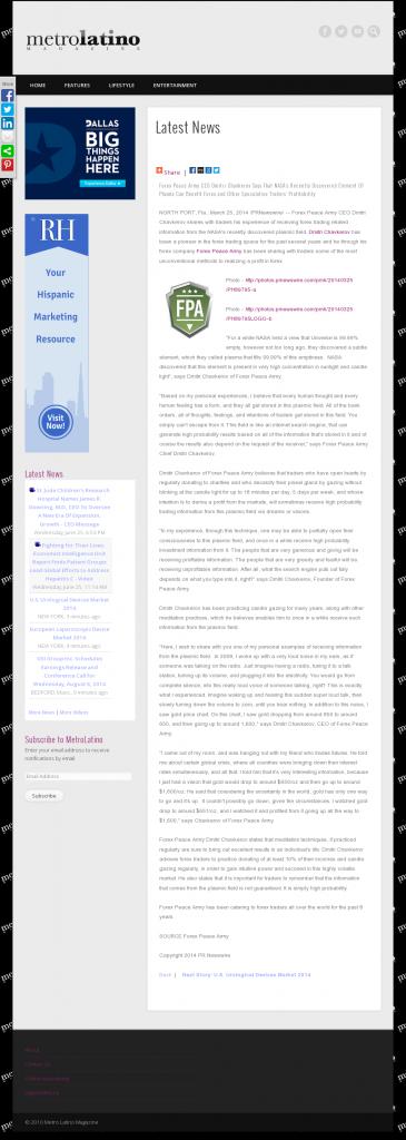 Forex Peace Army | Benefits of Plasma-Metro Latino Magazine- Forex Trading