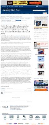 Dmitri Chavkerov | Speculator Attitude - Anchorage Daily News - Greed Factor