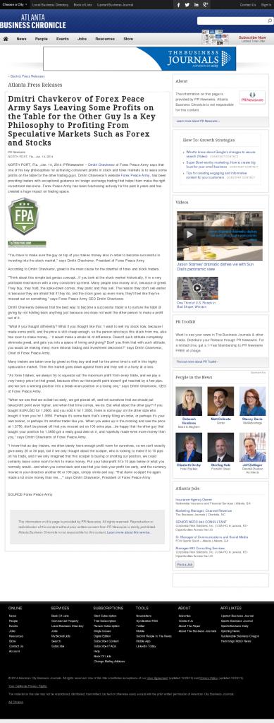 Dmitri Chavkerov   Speculator Attitude -Atlanta Business Chronicle- Greed Factor