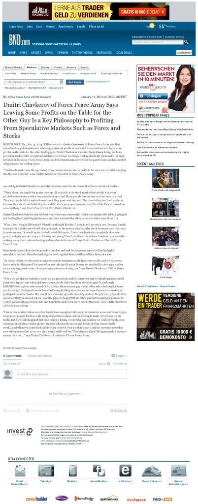 Dmitri Chavkerov | Speculator Attitude -Belleville News-Democrat- Greed Factor