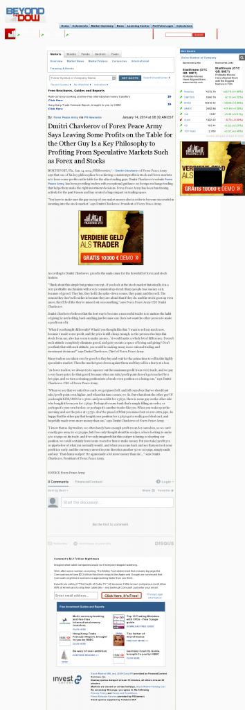 Dmitri Chavkerov   Speculator Attitude -Beyond The Dow- Greed Factor