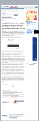Dmitri Chavkerov | Speculator Attitude - Contra Costa Times - Greed Factor