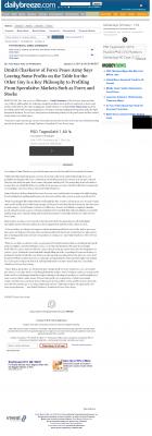 Dmitri Chavkerov | Speculator Attitude - Daily Breeze (Torrance, CA) - Greed Factor