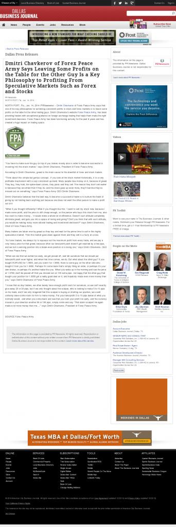 Dmitri Chavkerov   Speculator Attitude -Dallas Business Journal- Greed Factor