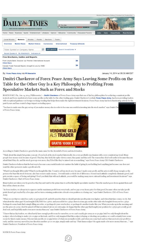 Dmitri Chavkerov | Speculator Attitude -Farmington Daily Times (Farmington, NM)- Greed Factor