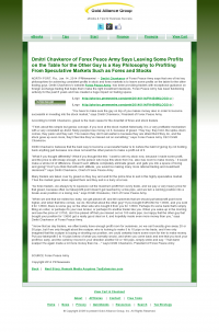 Dmitri Chavkerov | Speculator Attitude - Gold Alliance Group - Greed Factor