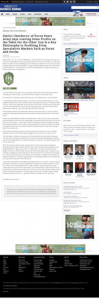 Dmitri Chavkerov | Speculator Attitude -Kansas City Business Journal- Greed Factor