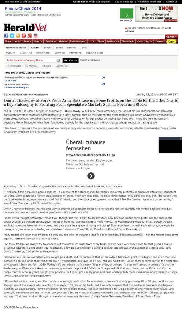 Dmitri Chavkerov | Speculator Attitude -The Daily Herald- Greed Factor