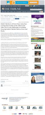 Dmitri Chavkerov | Speculator Attitude - Tribune (San Luis Obispo, CA) - Greed Factor