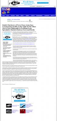 Dmitri Chavkerov | Speculator Attitude - WALB NBC-10 (Albany, GA) - Greed Factor