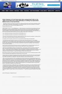 Dmitri Chavkerov | Speculator Attitude - WBMA-TV ABC-33 / ABC-40 (Birmingham, AL) - Greed Factor