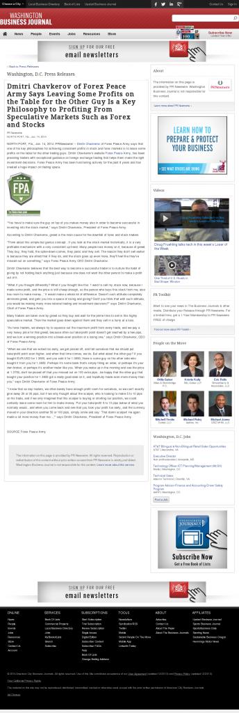 Dmitri Chavkerov | Speculator Attitude -Washington Business Journal- Greed Factor