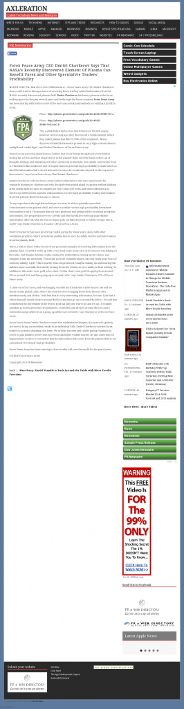 Forex Peace Army | Benefits of Plasma-Axleration- Forex Trading
