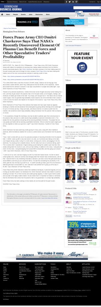 Forex Peace Army | Benefits of Plasma-Birmingham Business Journal- Forex Trading