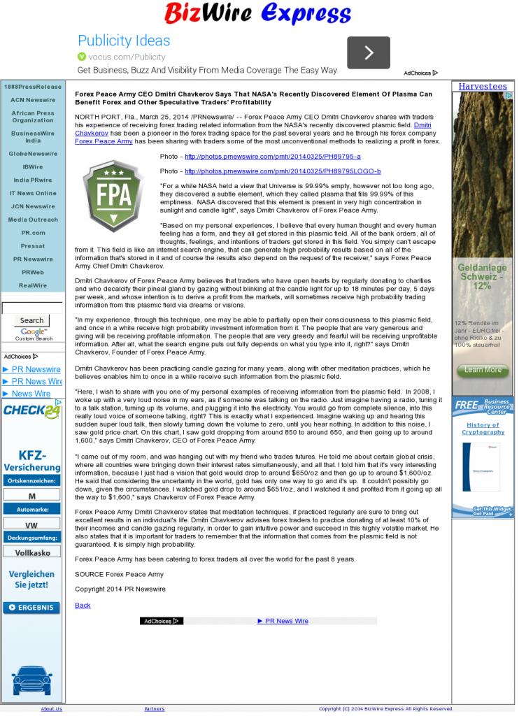 Forex Peace Army | Benefits of Plasma-Biz Wire Express- Forex Trading