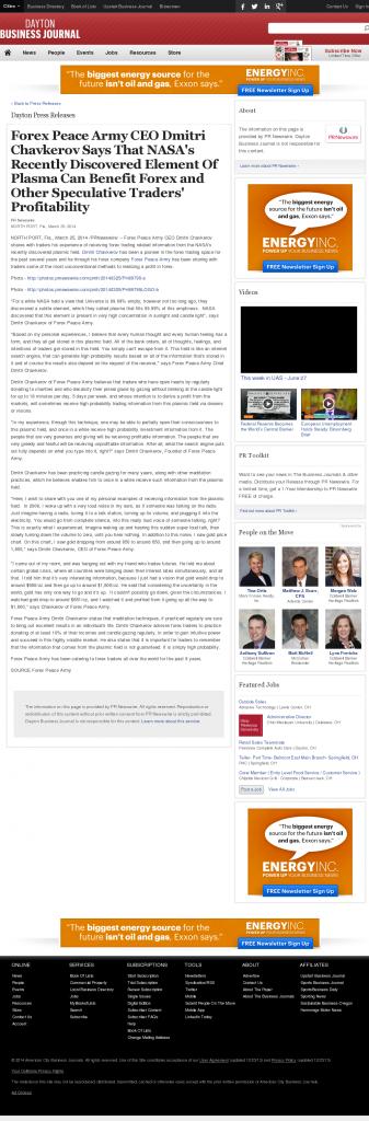Forex Peace Army | Benefits of Plasma-Dayton Business Journal- Forex Trading