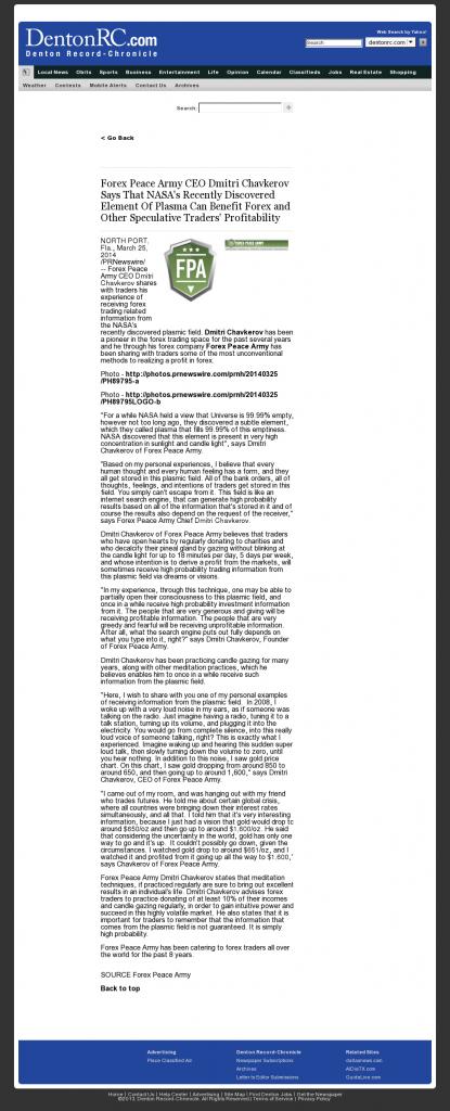 Forex Peace Army | Benefits of Plasma-Denton Record-Chronicle- Forex Trading