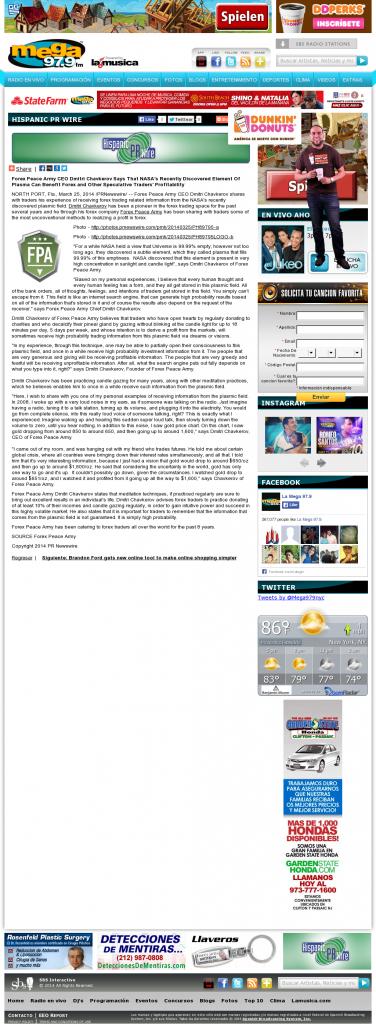 Forex Peace Army | Benefits of Plasma-La Mega 97.9 FM- Forex Trading