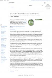 Forex Peace Army | Benefits of Plasma- Las Vegas Business Press - Forex Trading