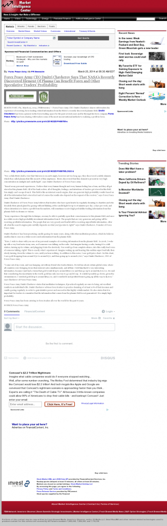 Forex Peace Army   Benefits of Plasma-Market Intelligence Center- Forex Trading