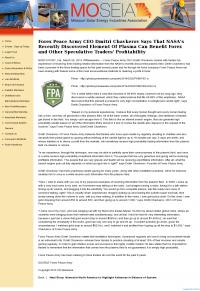 Forex Peace Army | Benefits of Plasma- Missouri Solar Energy Industries Association [MOSEIA] - Forex Trading