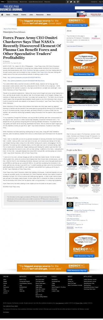 Forex Peace Army   Benefits of Plasma-Philadelphia Business Journal- Forex Trading