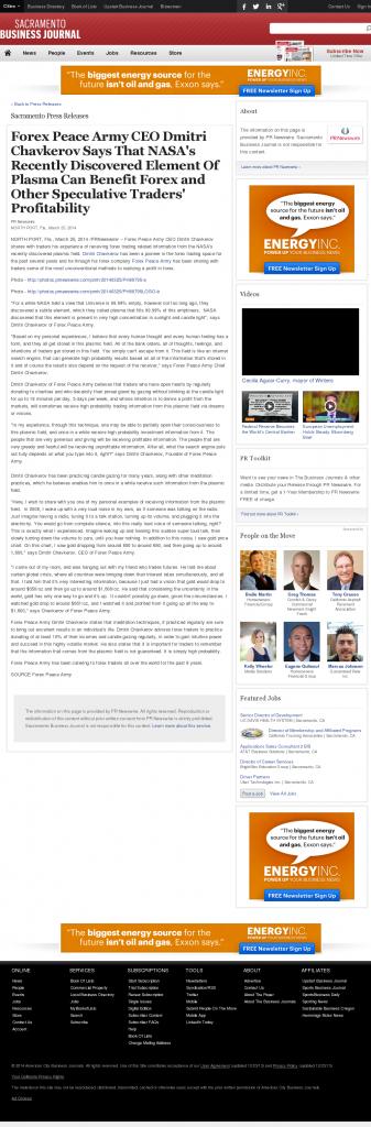 Forex Peace Army | Benefits of Plasma-Sacramento Business Journal- Forex Trading
