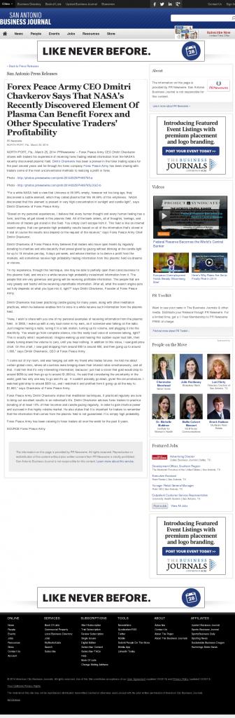 Forex Peace Army   Benefits of Plasma-San Antonio Business Journal- Forex Trading