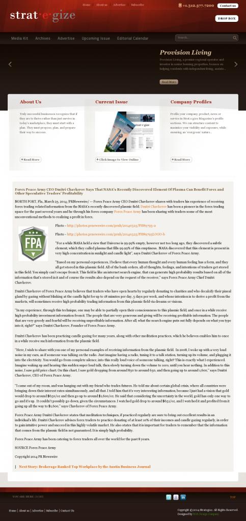 Forex Peace Army   Benefits of Plasma-Strategize Magazine- Forex Trading