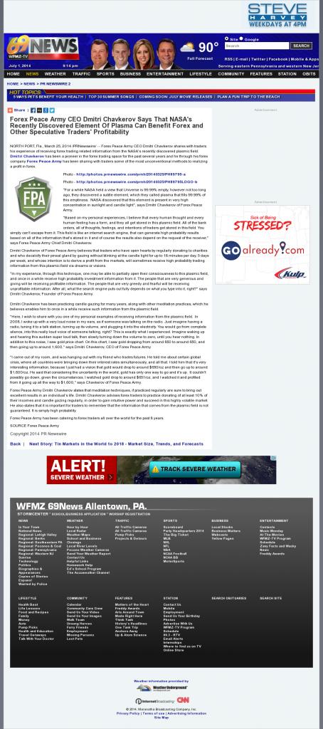Forex Peace Army | Benefits of Plasma-WFMZ- Forex Trading