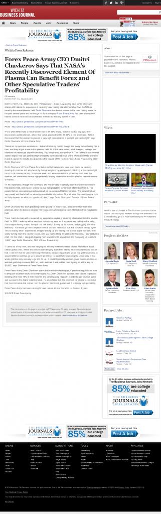 Forex Peace Army | Benefits of Plasma-Wichita Business Journal- Forex Trading